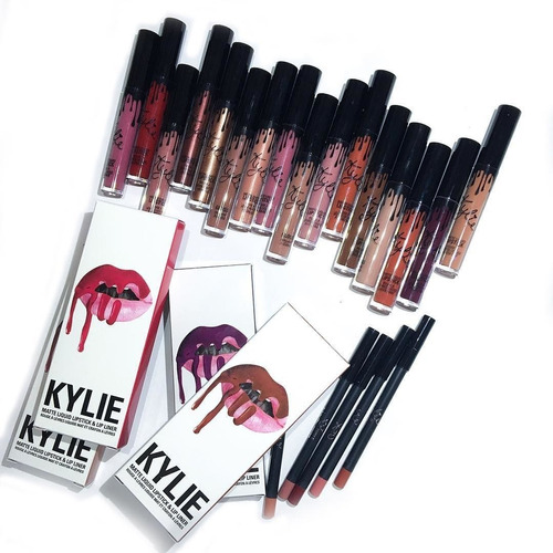 labial kylie con delineador - kit kylie mate - lipstick