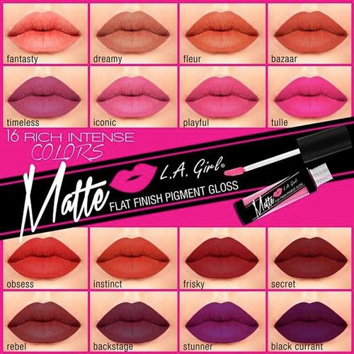 labial larga duración la girl matte lip gloss original 100%!