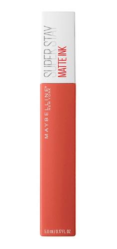 labial larga duración ss matte tono amazonian maybelline