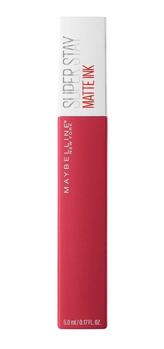 labial larga duración superstay matte tono ruler maybelline
