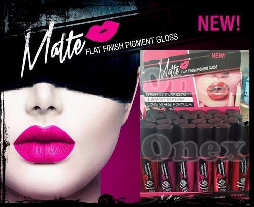 labial lip gloss indeleble matte tipo l.a 24pza caja nuprc