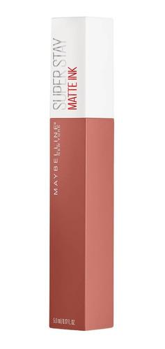 labial líquido maybelline super stay matte ink unnude 4.8 ml