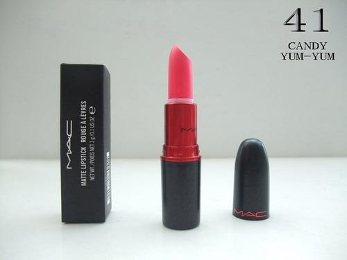 labial mac matte edicion viva glam (24 labiales)