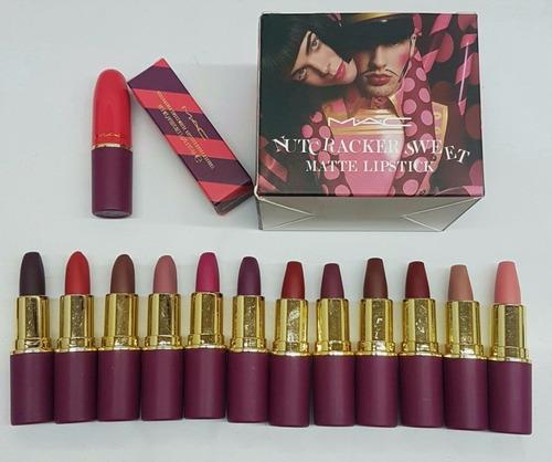 labial mac nutcracker 12 pz envio gratis excelente calidad