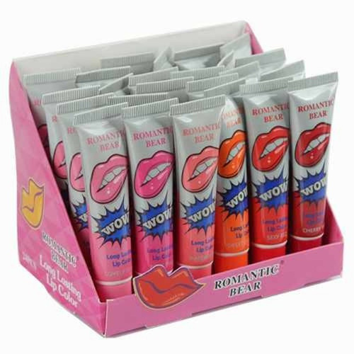 labial wow lipstik larga duracion caja por 24 unidades promo