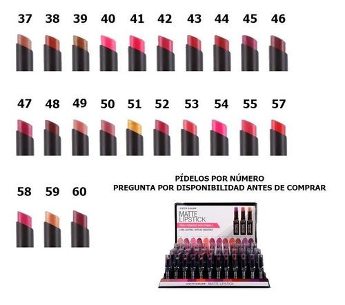 labiales city color (matte lipstick)