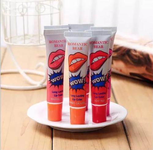 labiales wow lips magic larga duración colores variados x 12