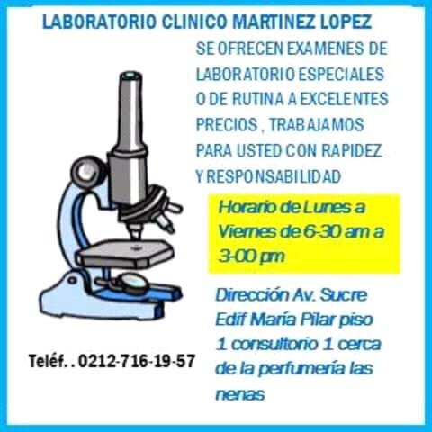 laboratorio a domicilio o en nuestras instalaciones