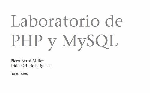 laboratorio de php y mysql