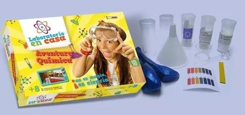 laboratorio en casa aventura quimica kit de ciencias 7001