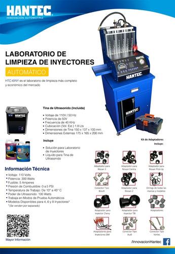 laboratorio limpieza inyectores 6 cil + liquido gratis