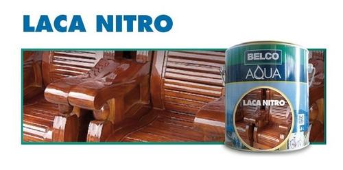 laca nitro nitrocelulósica maderas 3.6 l brillante - belco