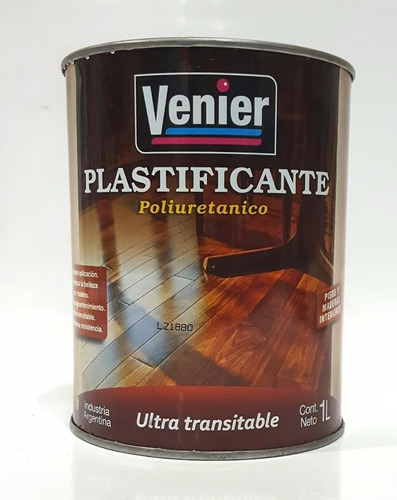 laca plastificante poliuretanico para pisos venier x 1 litro