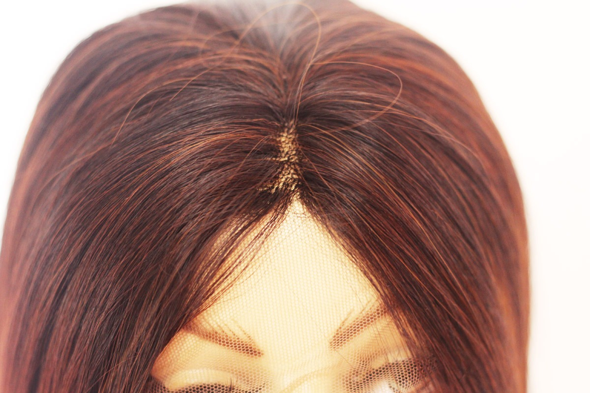 Lace Front Castanha Ombre Hair 80cm Lisa Fibra Organica R 220 00