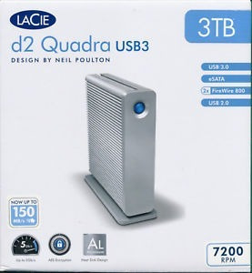 lacie d2 quadra v3 3tb firewire 800/usb 3.0/usb 2.0/esata 3g