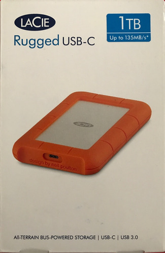 lacie rugged usb-c 1tb, usb 3.1, 3.0, hdd externo macbook