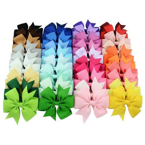 laço cabelo infantil bico de pato kit com 40 pçs