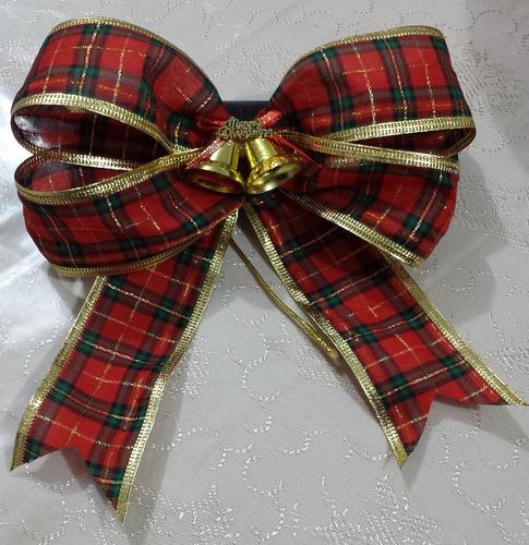laço duplo decorativo para árvore de natal kit com 5 laços