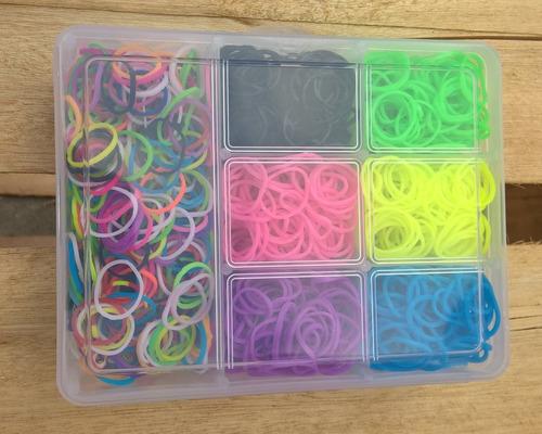 laços para cachorro 1000 elasticos pet silicone caixa