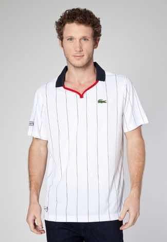 81debca063ec9 Lacoste Camisa Polo Lacoste Style Branca - R  109
