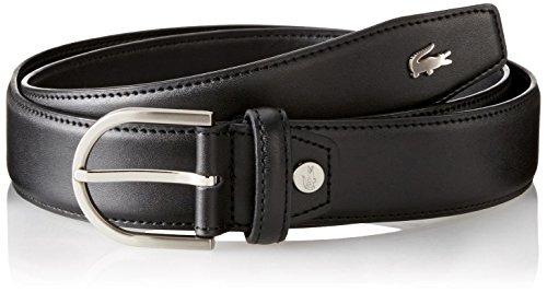 lacoste - cinturón de hombre premium de piel de cocodrilo, n