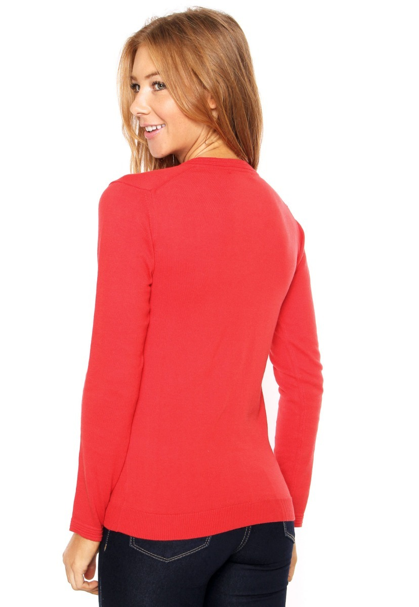 Carregando zoom... 2 suéter lacoste feminino tricot bordado vermelho b046a43c44