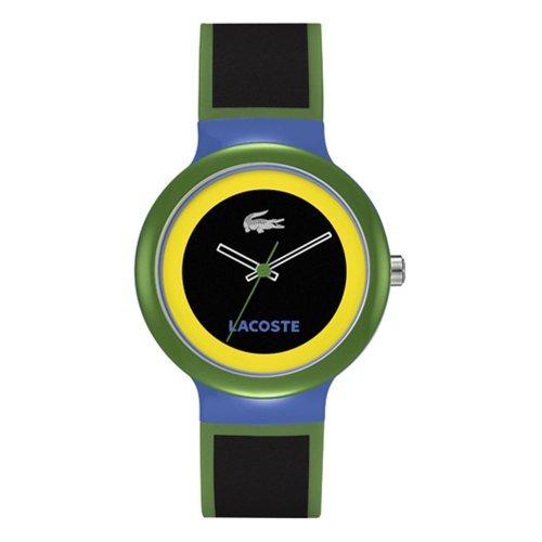 lacoste goa green unisex reloj de plástico