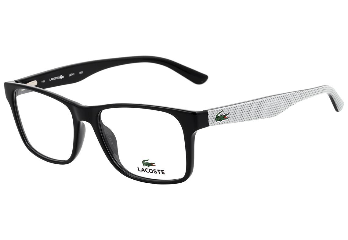 dd68c307d6d40 lacoste l 2741 - óculos de grau 001 preto e branco. Carregando zoom.