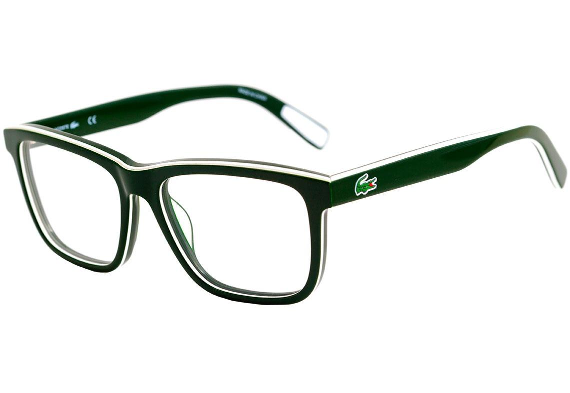 d5eac38e7f4d4 lacoste l 2775 - óculos de grau 315 verde e branco brilho -. Carregando  zoom.