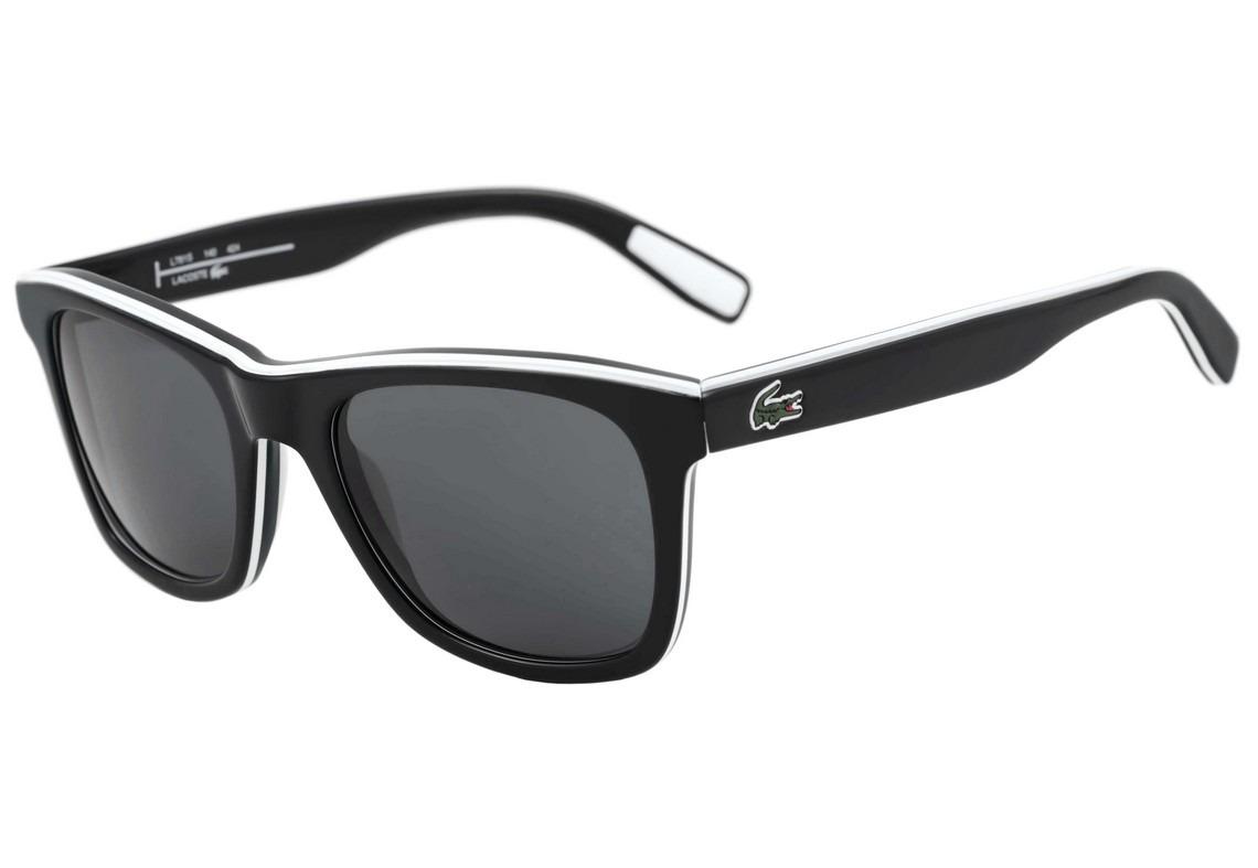 lacoste l 781s - óculos de sol 002 preto e branco brilho . Carregando zoom. de8f1c591c