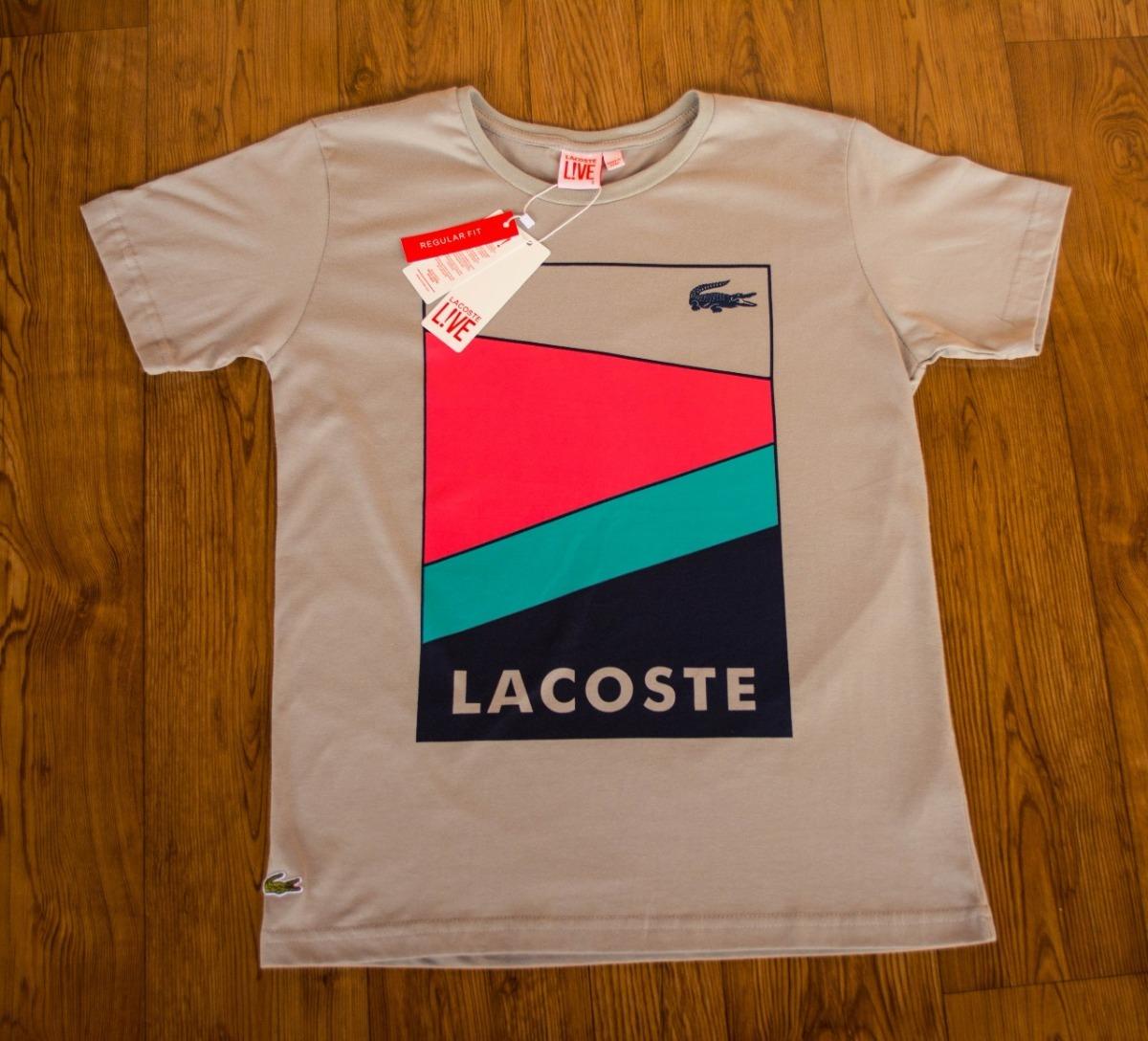 Lacoste Live Peruanas 4 Tshirts Estampadas - R  144,00 em Mercado Livre fba76407c7