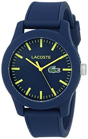 lacoste.12.12 resina azul del reloj de los hombres de lac