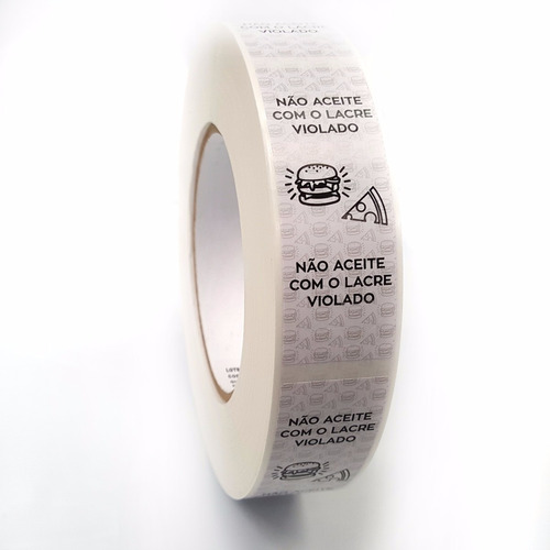 lacre adesivo destrutível para lanches / delivery - 1000 und