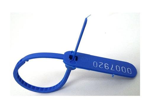 lacres de malote 16cm azul cosmofix 10pctc c/1000 unds total