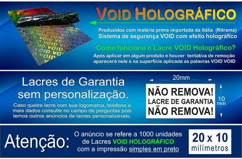 lacres void holográfico 20x10mm 3000 unid. pb