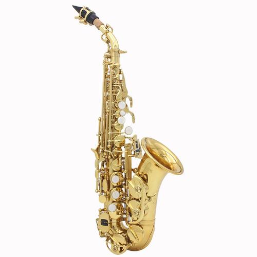 lade  golden brass carve patrón bb doblado althorne saxofón