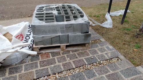 ladrillo bloque de hormigón liso 14x19x39 - 40 u - gorina