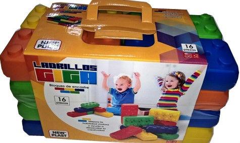 ladrillo bloques grande gigante x16 20cm envio / open-toy 11