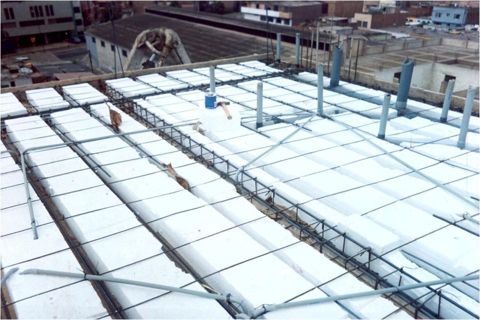 Ladrillo de tecnopor caseton techo 15 y 12 puesto en for Losa techo