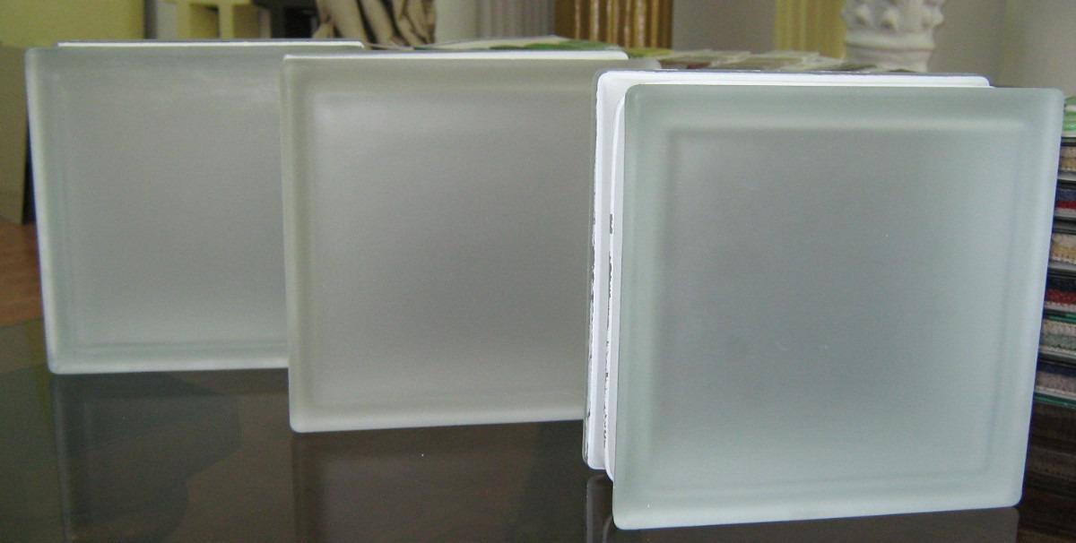 Ladrillo de vidrio liso y ondulado satinado 19 19 8 checos - Ladrillos de cristal medidas ...