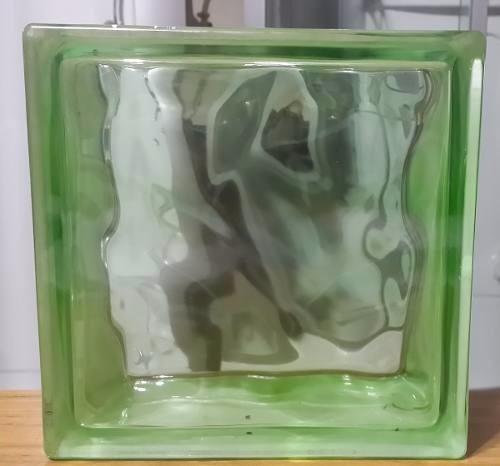 ladrillo de vidrio nube azul/verde/marron 19x19x8 stock!!!