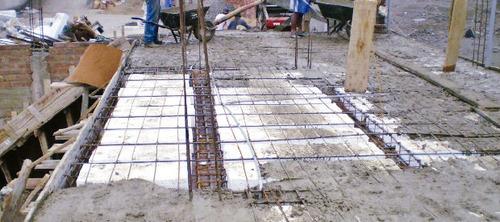 ladrillo techo 15 x 30 x 120 tecnopor puesto en obra