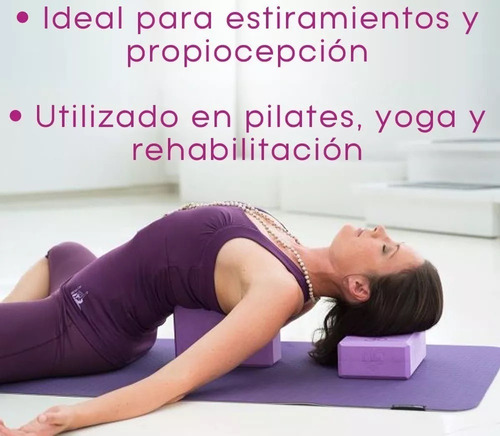 ladrillo yoga pilates bloque goma eva  env