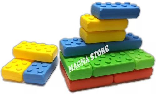 ladrillos bloques encastre giga x16 new plast 1 a 3 años