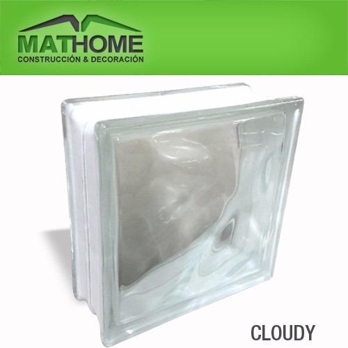 ladrillos de vidrio - 3 modelos - 19x19x8 cm - mathome