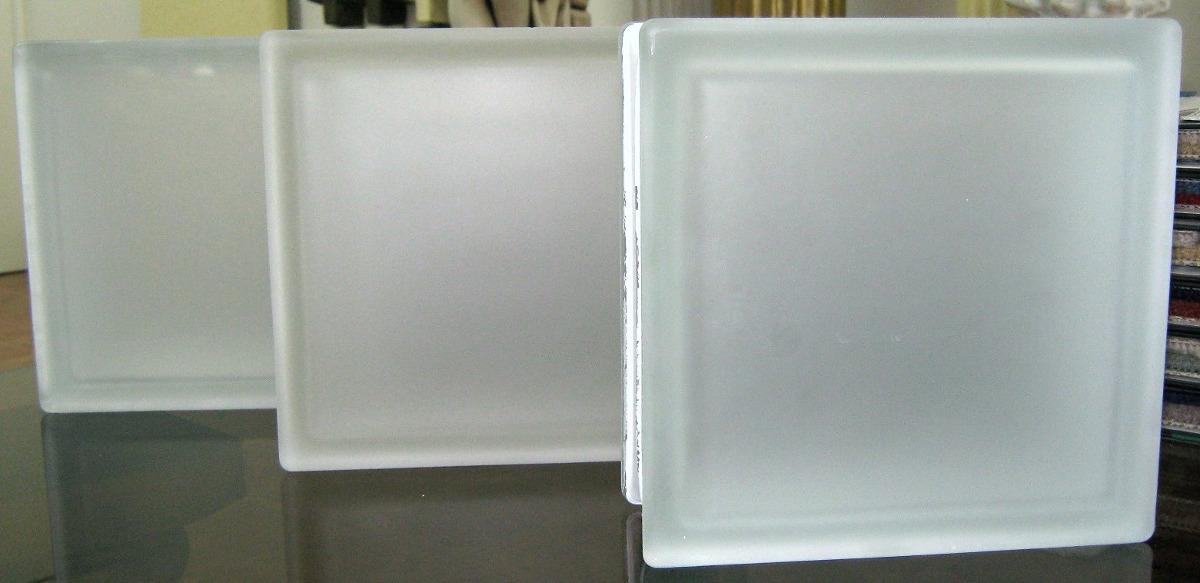 ladrillos de vidrio liso satinados esmerilados 19x19x8 cm cargando zoom - Ladrillos De Vidrio