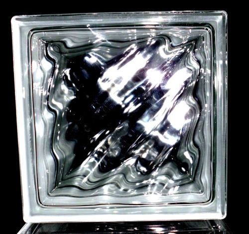 ladrillos de vidrio nube escoces unicos incoloros!!.