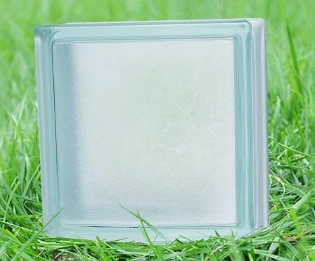 ladrillos de vidrio nube satinado 19x19x8 cm - oportunidad!!
