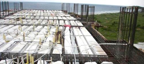 ladrillos techo 15 x 30 x 120 tecnopor puesto en obra