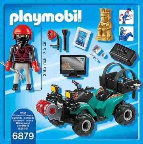 ladron con cuatrimoto y botin playmobil pm6879 r3840
